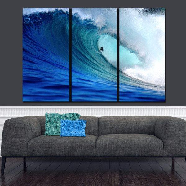 Ocean Surfer Canvas Wall Art - Canvas Wall Art - HolyCowCanvas