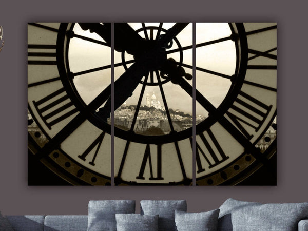 Paris D'Orsay Museum Clock Canvas Wall Art - Canvas Wall Art - HolyCowCanvas