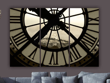Paris D'Orsay Museum Clock Canvas Wall Art