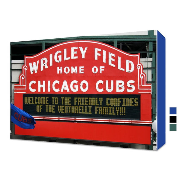Personalized Wrigley Field Marquee Canvas - Canvas Wall Art - HolyCowCanvas