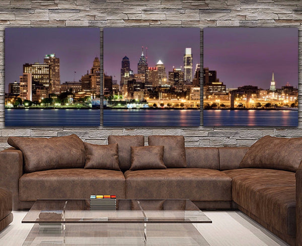 Philadelphia Skyline Wall Art - Canvas Wall Art - HolyCowCanvas