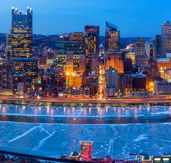 Pittsburgh Skyline Canvas Wall Art - Canvas Wall Art - HolyCowCanvas