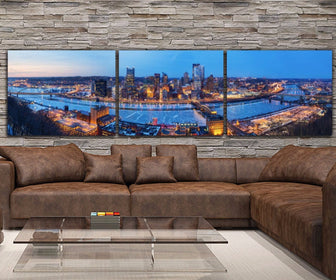 Pittsburgh Skyline Canvas Wall Art
