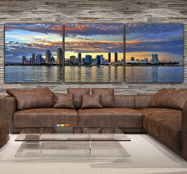 San Diego Skyline Canvas Wall Art - Canvas Wall Art - HolyCowCanvas