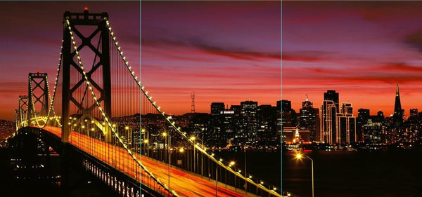 San Francisco Bay Bridge at Sunset Canvas Wall Art - Canvas Wall Art - HolyCowCanvas