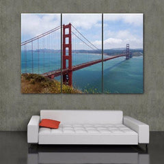 San Francisco Golden Gate Bridge Canvas Wall Art - Canvas Wall Art - HolyCowCanvas