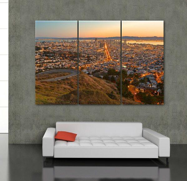San Francisco Skyline Canvas Wall Art - Canvas Wall Art - HolyCowCanvas