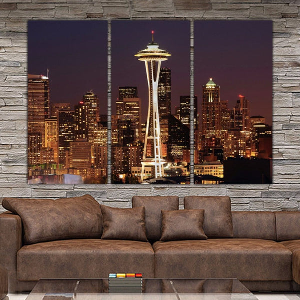 Seattle Skyline Canvas Wall Art - Canvas Wall Art - HolyCowCanvas