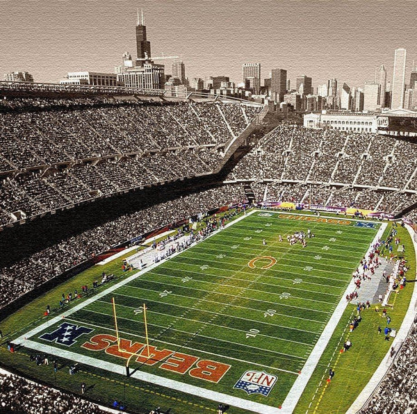 Soldier Field Chicago Bears Canvas - Canvas Wall Art - HolyCowCanvas