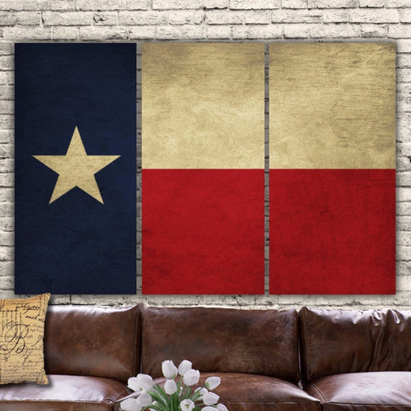 Texas State Flag Canvas Wall Art - Canvas Wall Art - HolyCowCanvas