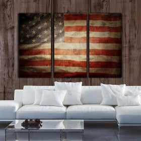 Vintage American Flag Canvas