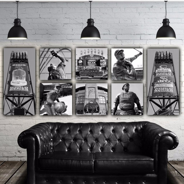 White Sox Canvas Wall Art Set - Canvas Wall Art - HolyCowCanvas