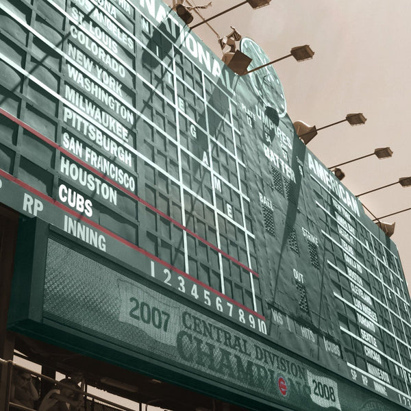 Wrigley Field Scoreboard Canvas - Canvas Wall Art - HolyCowCanvas