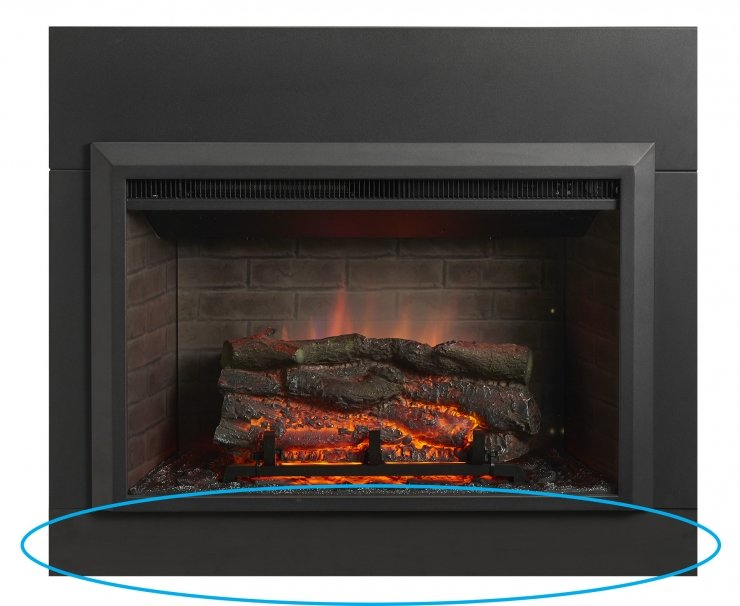 "Outdoor Greatroom Company - Accessories - Bottom Surround for 32"" Zero Clearance Electric Fireplace Insert IS-36-ZC-B"