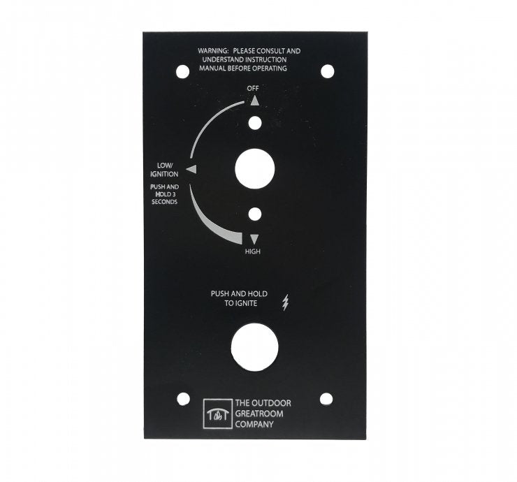 "Outdoor Greatroom Company - Accessories - 6.38"" X 3.5"" Control Panel for Crystal Fire Plus Burners VCSV-CP"