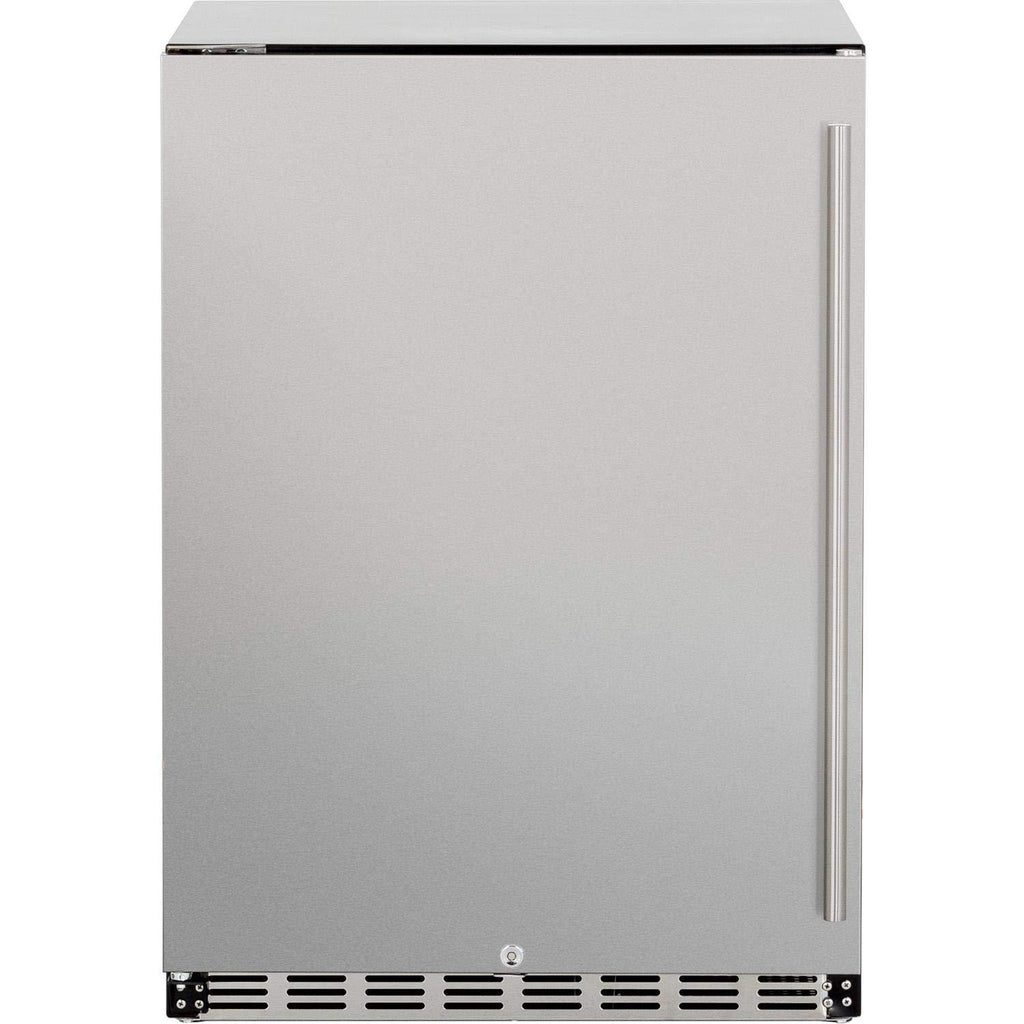 "Summerset Grills Refrigerator 24"" Deluxe Outdoor Rated 5.3ft3 Right to Left OpeniNatural Gas SSRFR-24DR"