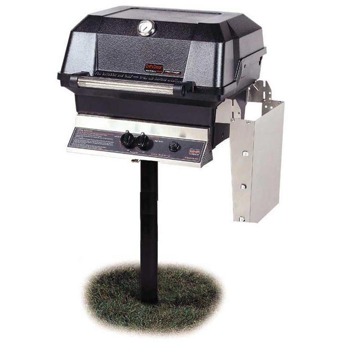 MHP Grills Natural Gas Grill With Stainless Steel Shelves JNR4DD-N