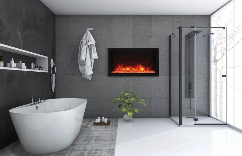 "Amantii BI-40-DEEP-XT 40"" Wide"" Deep Indoor or Outdoor Electric Built-in only with Black Steel Surround"