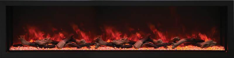 "Amantii BI-88-DEEP-XT 88"" Wide"" Deep Indoor or Outdoor Electric Built-in only with Black Steel Surround"