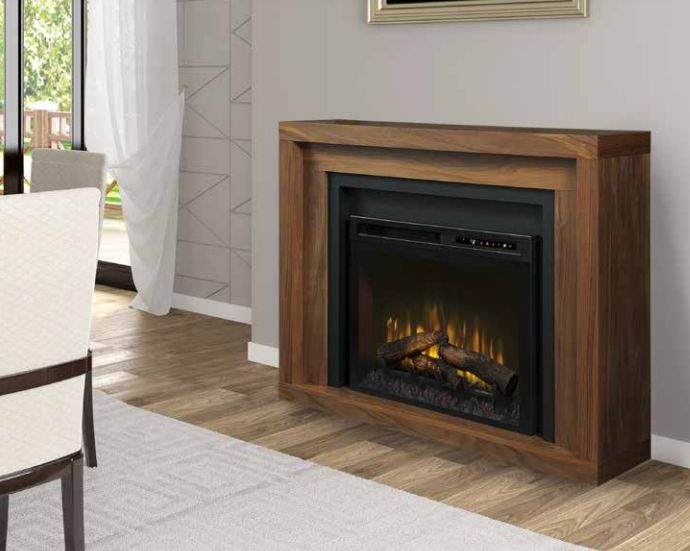 Anthony Mantel in Natural Walnut Finish DM28-1942WL Firebox Sold Separately