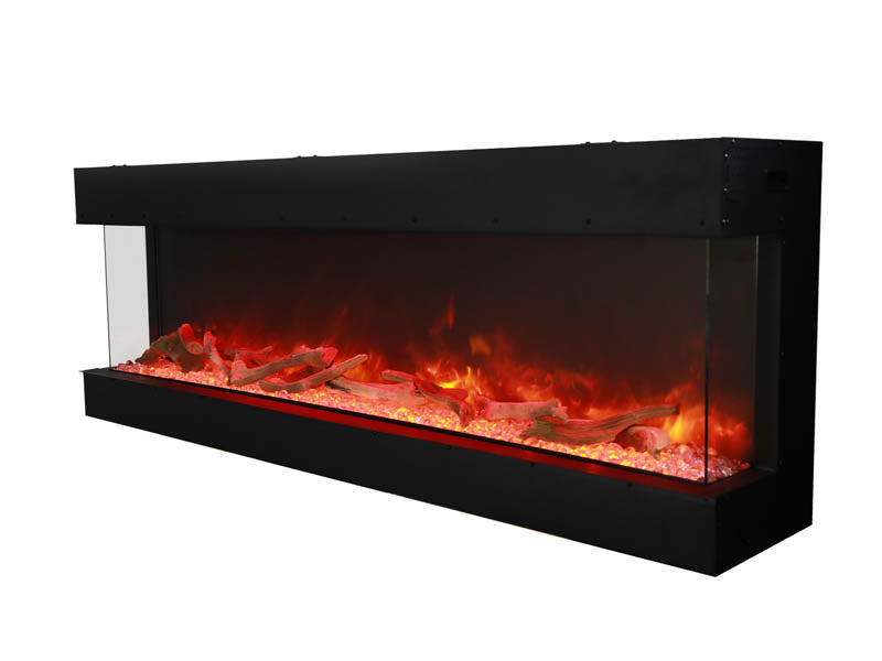 "Amantii 72-TRU-VIEW-XL 70"" 3 sided glass electric fireplace Built-in only"