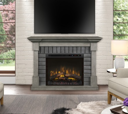 Dimplex GDS28L8-1924SK Royce Smoke Stack Electric Fireplace