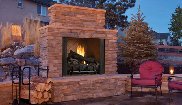 "Superior 36"" - Vent-Free Fireboxes - Full View Masonry Outdoor Fireplaces - VRE6036"