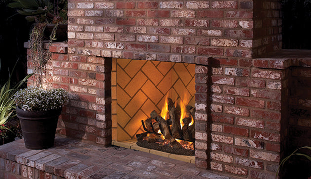 "Superior 50"" - Vent-Free Fireboxes - Full View Masonry Outdoor Fireplaces - VRE6050"