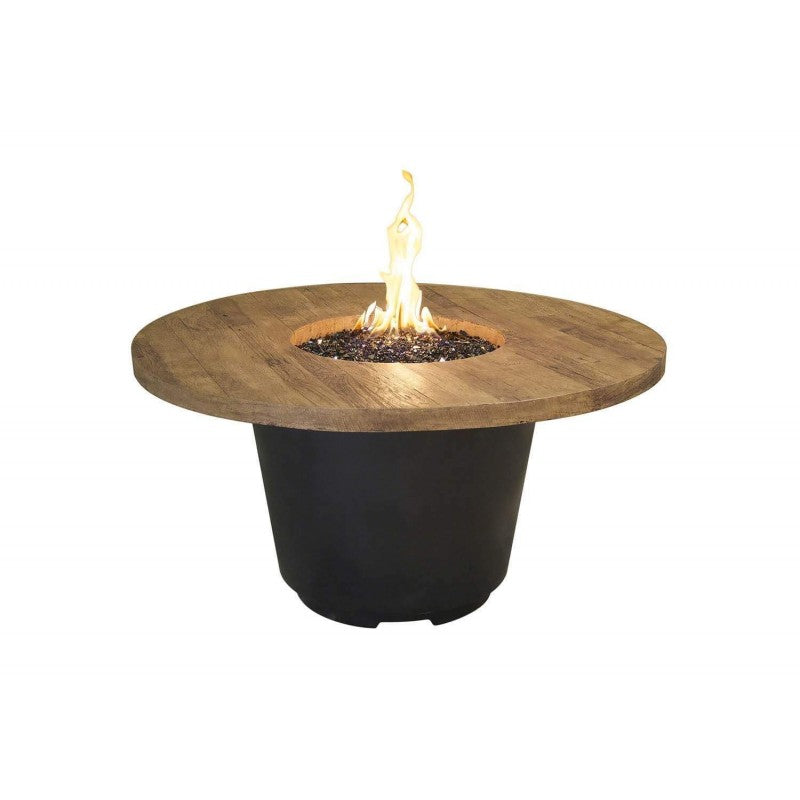 American Fyre Designs Reclaimed Wood Cosmo Round Firetable 645-BA-XX-V2XC
