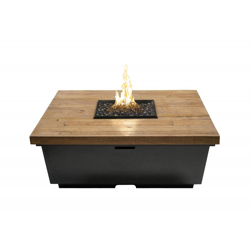 American Fyre Designs Reclaimed Wood Contempo Square Firetable 784-BA-XX-V2XC
