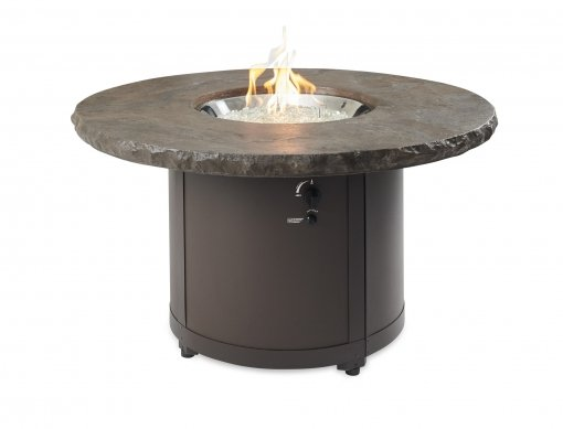 Outdoor Greatroom Company BC-20-MNB Marbelized Noche Beacon Chat Height Gas Fire Pit Table