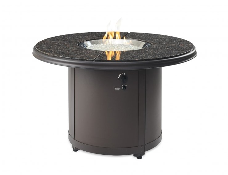 Outdoor Greatroom Company BD-20-BG Brown Granite Beacon Dining Height Gas Fire Pit Table