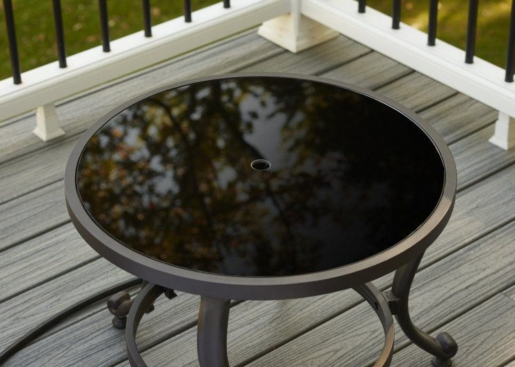 "Outdoor Greatroom Company CFT-GLASS 20"" Round Black Tempered Glass Burner Cover"