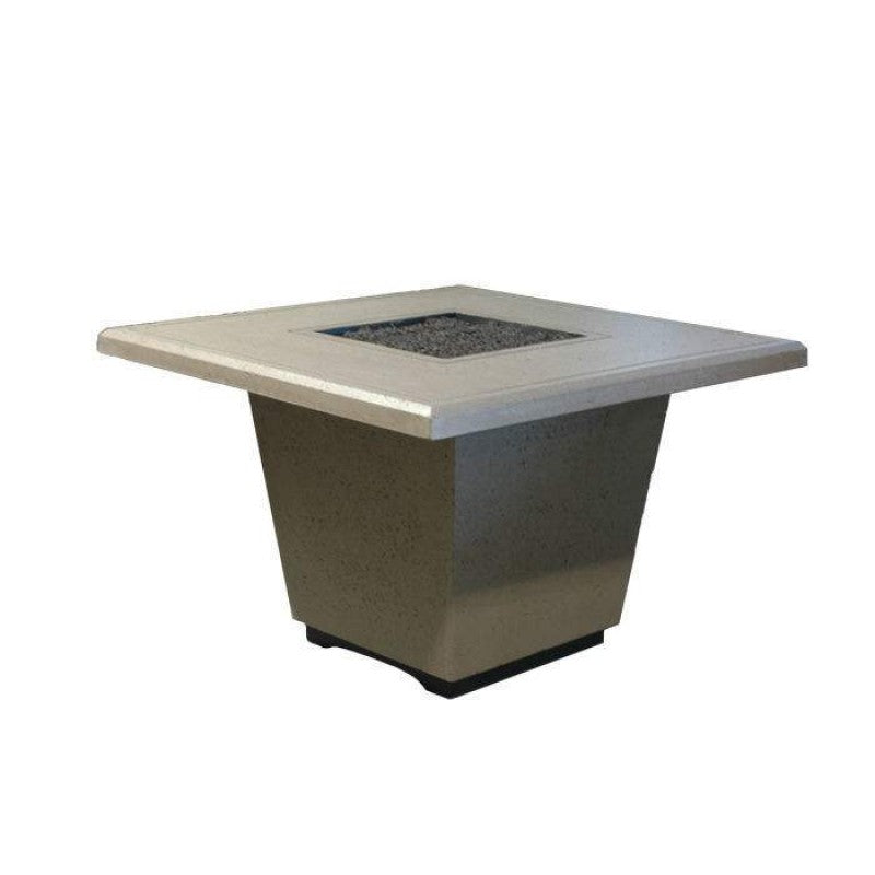 American Fyre Designs Cosmopolitan Chat Height Square Firetable 640-XX-11-V2XC