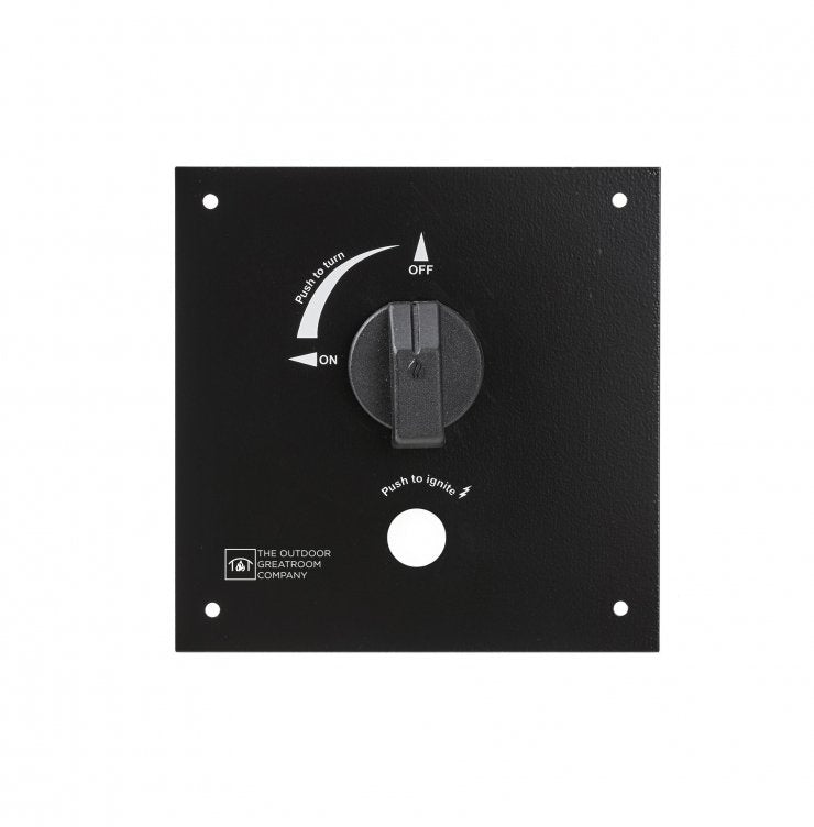 "Outdoor Greatroom Company CT-CONTROL PANEL 6.5"" X 6.5"" Do-It-Yourself Control Panel with Gas Valve"