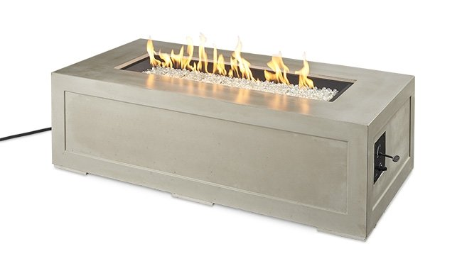 "Outdoor Greatroom Company 60""Cove Linear Gas Fire Pit Table CV-1242"