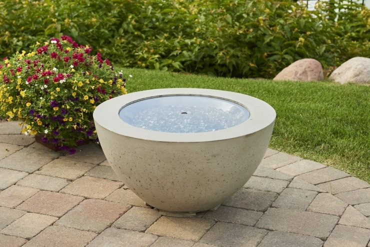 "Outdoor Greatroom Company 20-R-GGC 20"" Round Grey Tempered Glass Burner Cover"