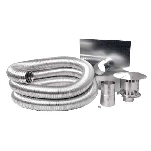 "Napoleon Compressed Aluminum Flexible Gas Liner Kit, 25ft Length, 3"" Diameter GAKIT325"