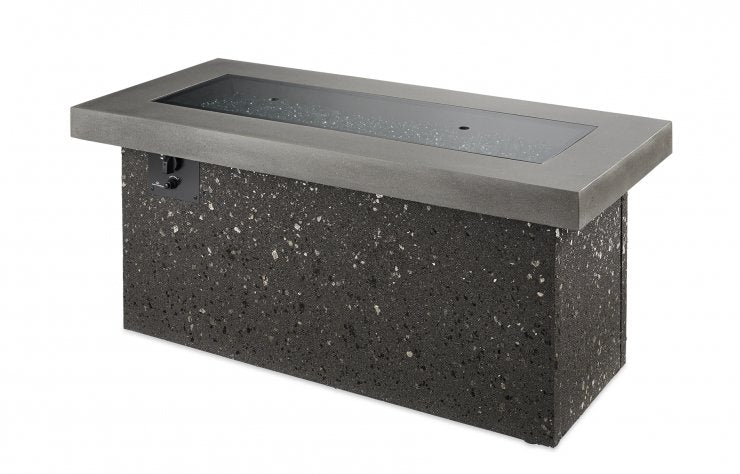 Outdoor Greatroom Company KL-1242-MM Grey Key Largo Linear Gas Fire Pit Table