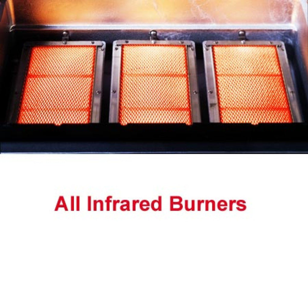 MHP Infrared Burner Liquid Propane Barbecue Grills TRG2-PS