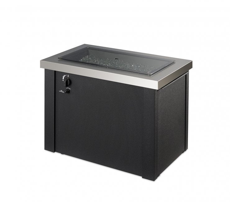 Outdoor Greatroom Company PROV-1224-SS Stainless Steel Providence Rectangular Gas Fire Pit Table