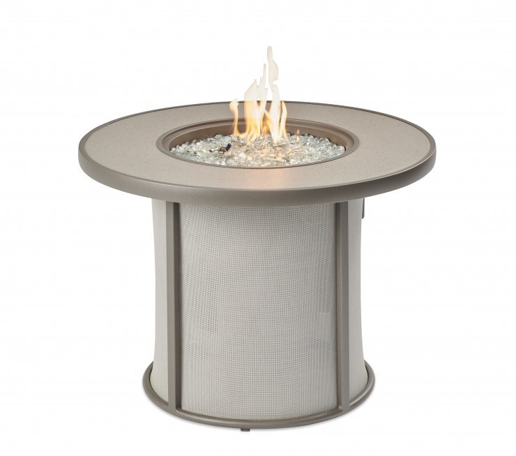 Outdoor Greatroom Company Grey Stonefire Gas Fire Pit Table SF-32-GRY-K