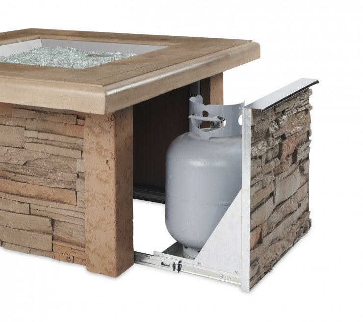 Outdoor Greatroom Company SIERRA-2424-M-K Sierra Square Gas Fire Pit Table