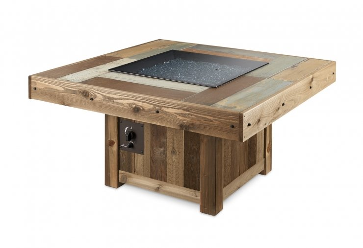 Outdoor Greatroom Company VNG-2424BRN Vintage Square Gas Fire Pit Table