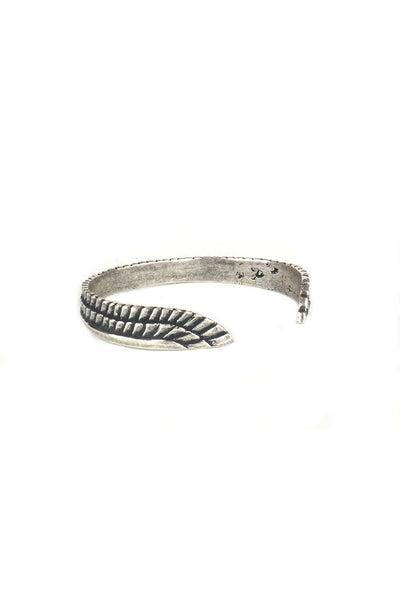 Torchlight Jewelry Sky Goddess Feather Cuff / Hand-etched adjustable feather cuff