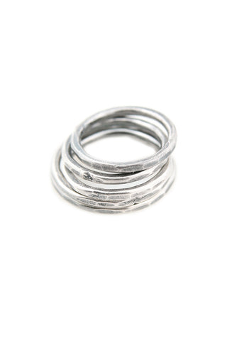 Torchlight Jewelry Delicate Hammered Stacking Ring in silver / Delicate silver ring made for layering and stacking
