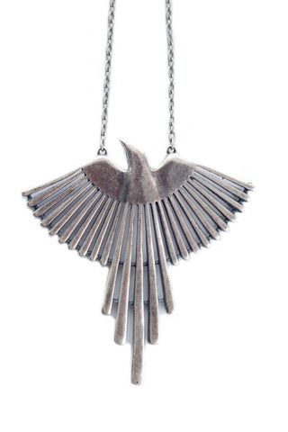 Torchlight Jewelry Thunderbird Pendant Necklace in silver / Torchlight Jewelry's Thunderbird pendant on long chain