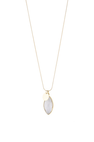 Torchlight Jewelry Clarity Charm Necklace / Delicate charm necklace with faceted quartz bezel and gold vermeil disc charms ideal for layering or wearing alone