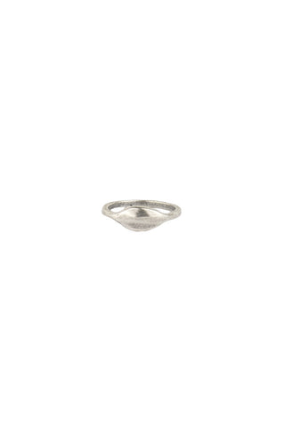 Torchlight Jewelry Mini Signet Ring in Silver / Mini signet style ring, perfect for stacking or wearing alone / Handmade from reclaimed metal in Los Angeles, California