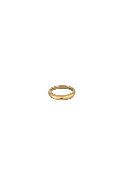 Torchlight Jewelry Small Terra Ring in Brass / Organically shaped silver ring that is perfect for stacking or wearing alone / Handmade from reclaimed metal in Los Angeles, California
